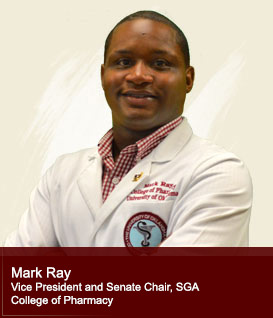 Mark Ray Treasurer, Student Government Association College of Pharmacy