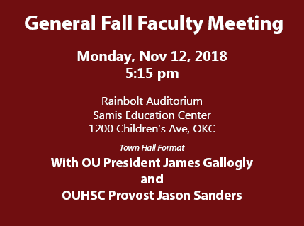 2018 Fall Faculty Meeting
