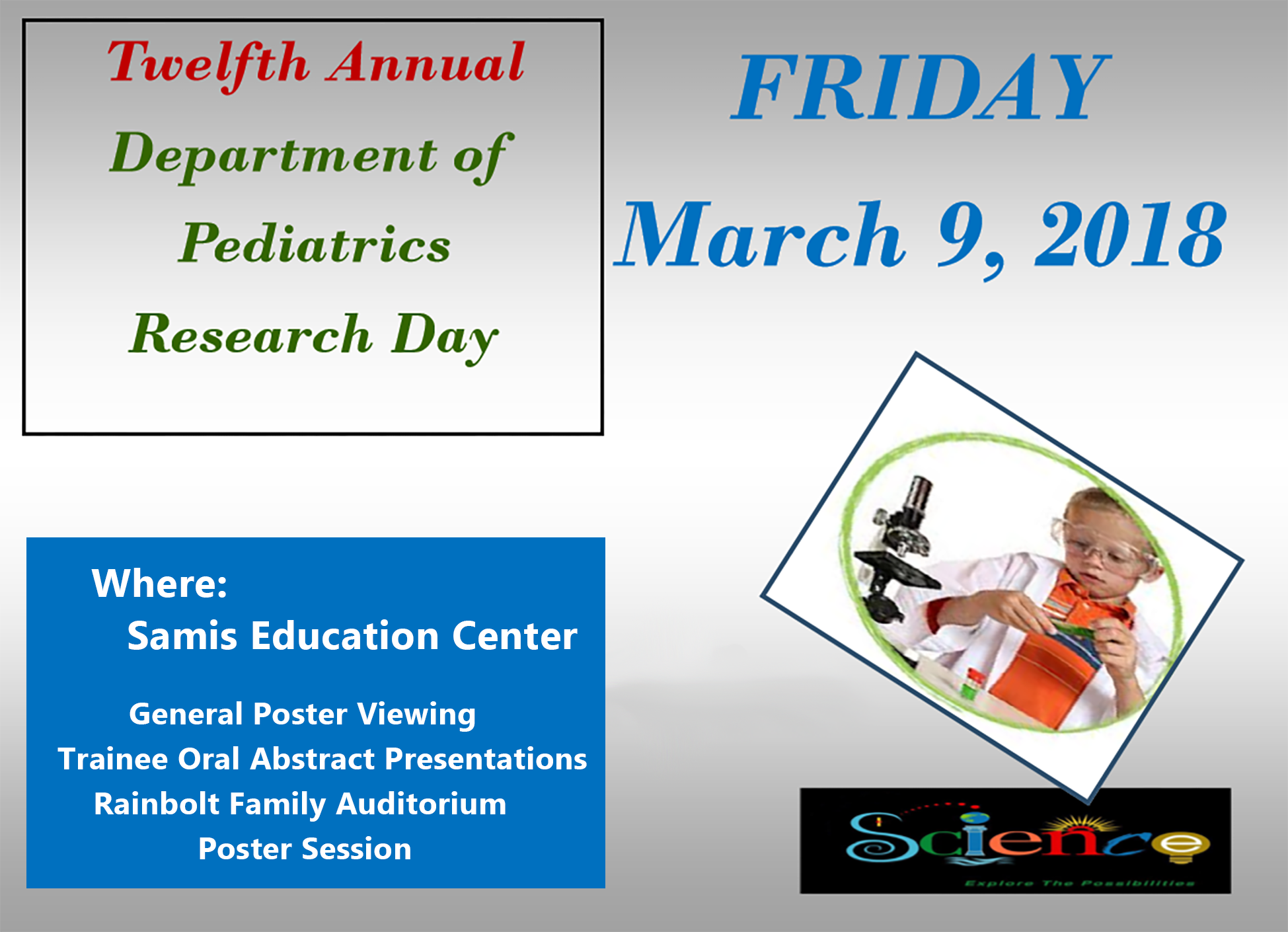 12th Annual Pediatric Research Day